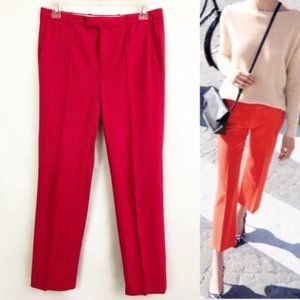 J Crew Tollegno 1900 all seasons red pants sz. 10
